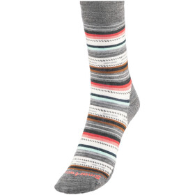 Smartwool Margarita Socks Women medium gray heather-bright coral